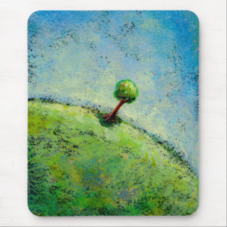 Titled:  This Very Moment - beautiful lone tree Mouse Pad
