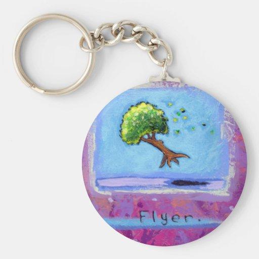 Titled:  Tiny Art #597 - Tree.  Flyer. ART Keychains