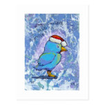 Titled:  Tiny Art #598 - Angry Santa Bird ART Postcards