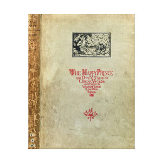 Titlepage of 'The Happy Prince and other Tales' Canvas Print