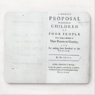 Titlepage to 'A Modest Proposal' Mouse Pad