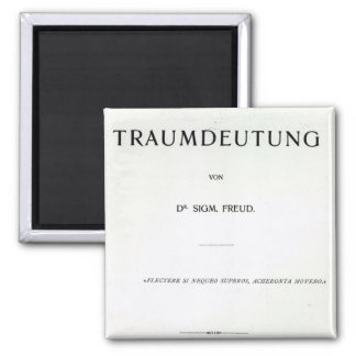 Titlepage to Die Traumdeutung by Sigmund Freud Square Magnet