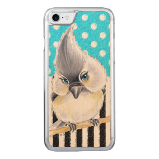 Titmouse Blue Polka Dot Carved iPhone 7 Case