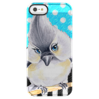 Titmouse Blue Polka Dot Clear iPhone SE/5/5s Case