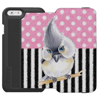 Titmouse Pink Polka Dot Incipio Watson™ iPhone 6 Wallet Case