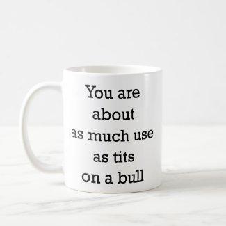 tits on a bull mug