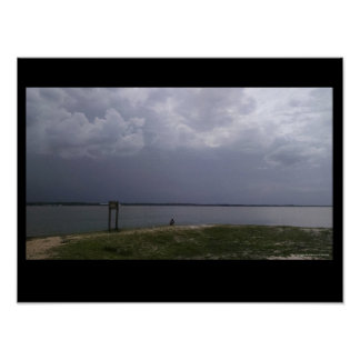 Titusville Beach Florida Storms Come In Poster