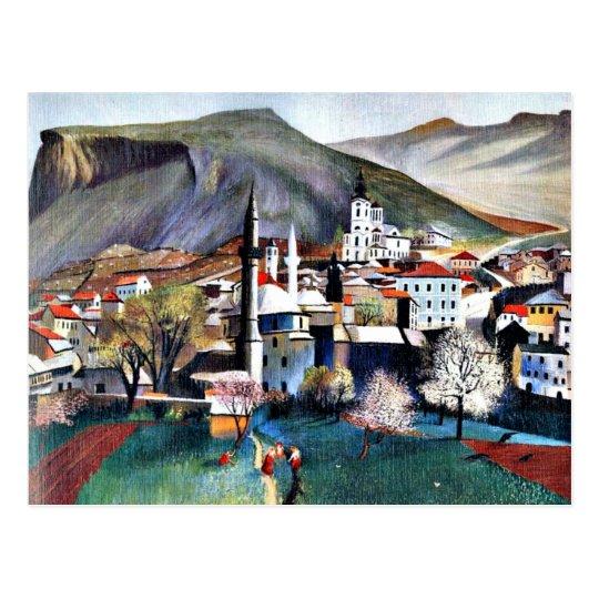 Tivadar Kosztka Csontvary art: Spingtime in Mostar Postcard