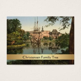 Tivoli Park, Copenhagen, Denmark Family Tree Business Card