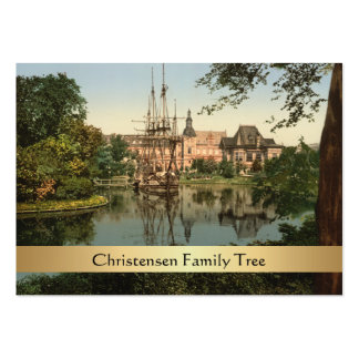 Tivoli Park, Copenhagen, Denmark Family Tree Pack Of Chubby Business Cards
