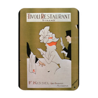 'Tivoli Restaurant, Strand', London (colour litho) Rectangular Photo Magnet