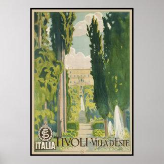 Tivoli Villa d Este Poster
