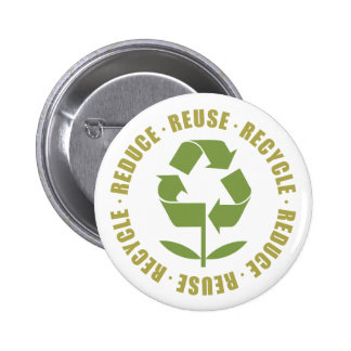 TJED Reduce Reuse Recycle [logo] 6 Cm Round Badge