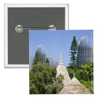 Tjibaou Cultural Centre, Noumea, New Caledonia 2 15 Cm Square Badge
