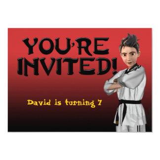 TKD Boy Invitation