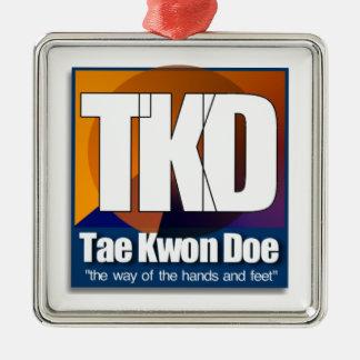 TKD TAEKWONDO CHRISTMAS ORNAMENT WAY HAND FEET