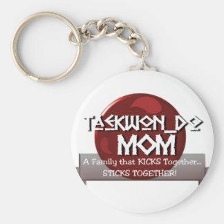 TKD TAEKWONDO MOM MOTTO KEY RING