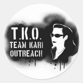 TKO - Black Stencil Classic Round Sticker