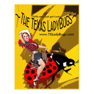 TLB Postcards w/Cowgirl on Bucking Bug