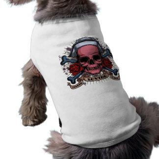 TLC Nurse Skull Sleeveless Dog Shirt