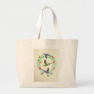Tlingit Hummingbirds on a tote! Large Tote Bag
