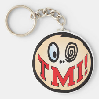 TMI Text Head Basic Round Button Key Ring
