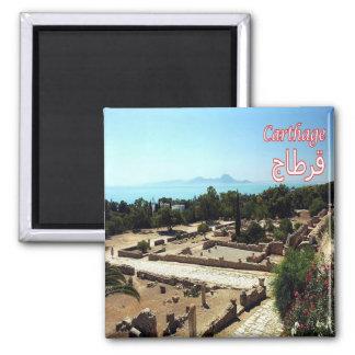 TN - Tunisia - Carthage - Ruins Square Magnet
