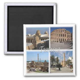 TN * Tunisia Square Magnet