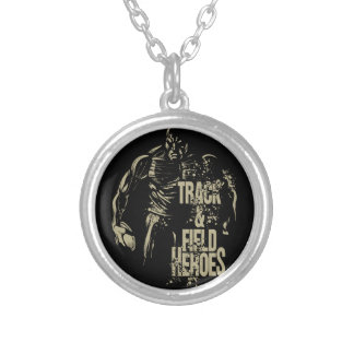 tnf heroes discus silver plated necklace