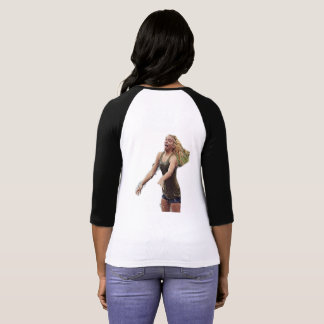 TNIT Women's Raglan T-Shirt (Hair Flip)