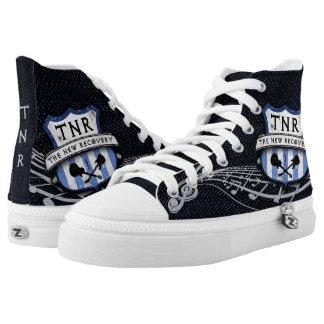 TNR Street Sign (Blue) Zipz Hi-Top Shoes