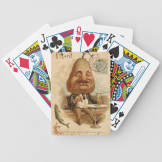 to 1er April to pear Bicycle Playing Cards