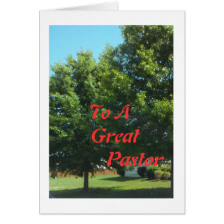 To A Great Pastor Cards