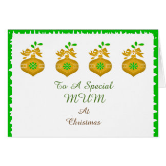 To A Special Mum At Christmas Greeting Card
