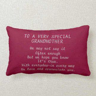 TO A VERY SPECIAL GRANDMOTHER LUMBAR PILLOW
