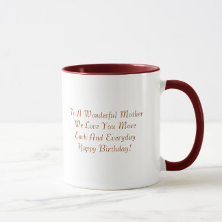 To A Wonderful Mother Mug