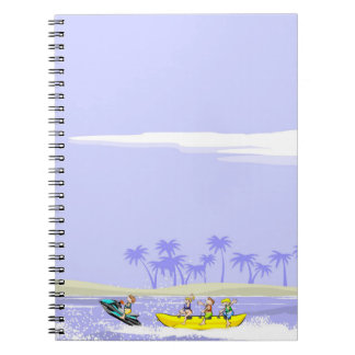 To all diversion in a boat banana spiral notebook