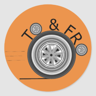 To and Fro Carshare sticker - Orange