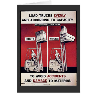 To Avoid Accidents And Damage To Material Greeting Card