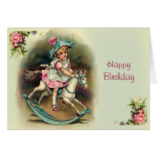 To Banbury Cross Happy Birthday Card