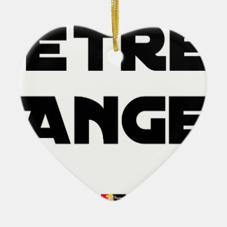 TO BE ANGEL - Word games - François City Ceramic Ornament
