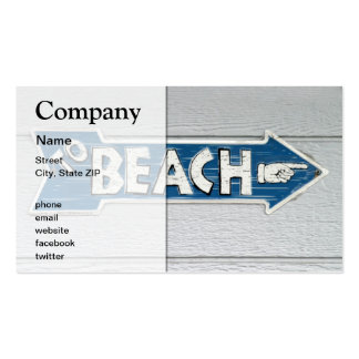 To Beach Pack Of Standard Business Cards