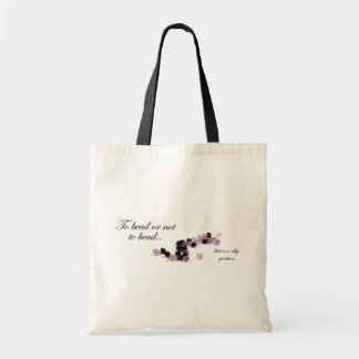 To bead or not to bead tote bag