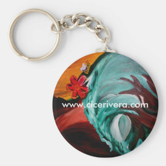 To Bee Basic Round Button Key Ring