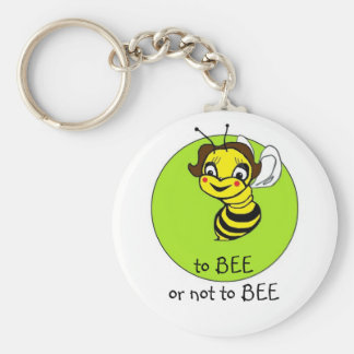 to BEE or not to BEE Basic Round Button Key Ring