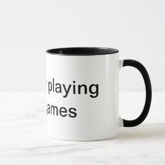 To busy playing video games coffee mug