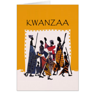 To Celebrate Kwanzaa Holiday Greeting Cards