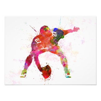 to center they american football to player man photo print
