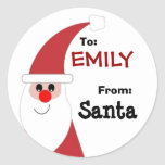 To Child From SANTA Gift Label Red and White v5