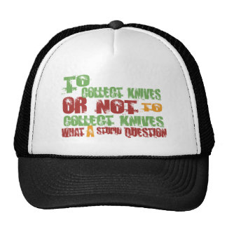 To Collect Knives Mesh Hat